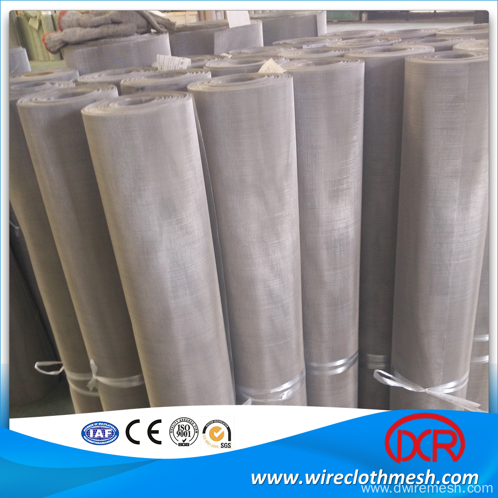 China Manufacturer Wire Cloth Screen Sizes, 304 plain weave 150*150 stainless steel wire mesh