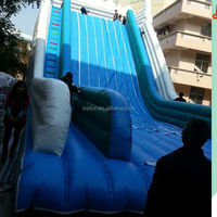 Strong commercial used giant hippo inflatable water slide