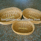 wholesales handmade weave environmentally friendly oval wicker fruit basket
