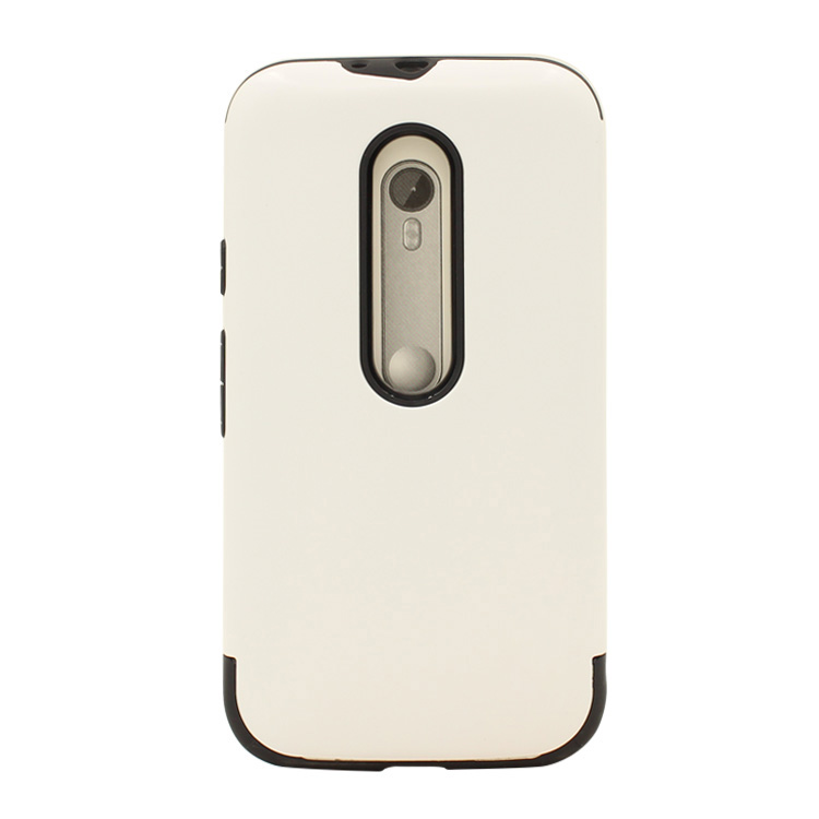 white color high quality two in one tpu with pc hybrid armor mobile phone case for motorola moto g3