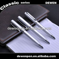 2013 dewen the most popular promotional items silver gift pen ball pen