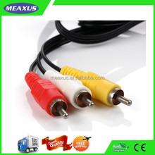 Cables 1.8 m Triple3 RCA AV Audio Video Cable For DVD VCR TV Consoles