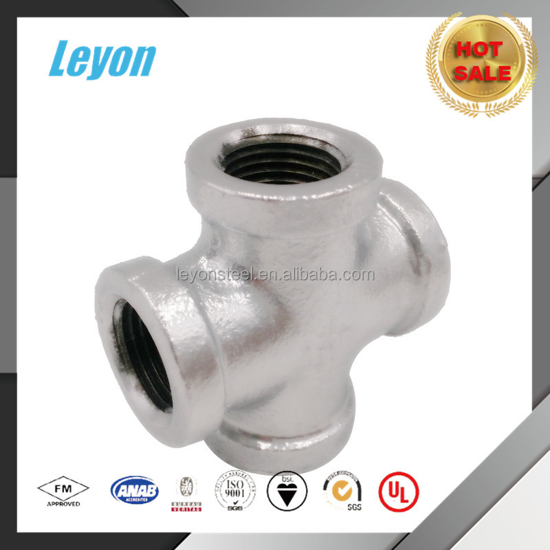 180 banded bellmouth butt weld pipe fitting cross