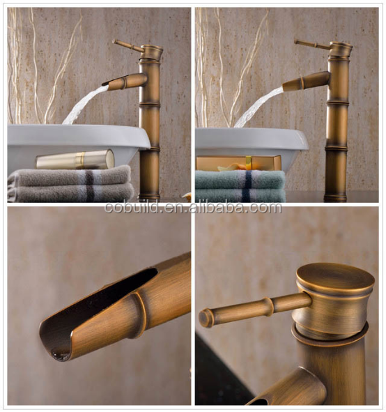 Vessel Antique brass bathroom sink faucet art deco bathroom sink faucet