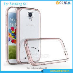 Wholesale price double colors acrylic tpu crystal transparent case for samsung galaxy s4 cases