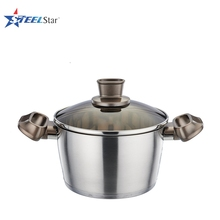 High quality stainless steel casserole with glass lid