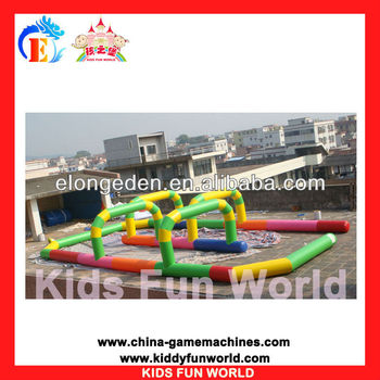 Race track inflatable circuit for sale