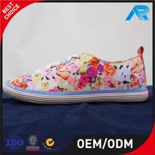 Brand new vulcanized women shoes casual floral printing with high quality