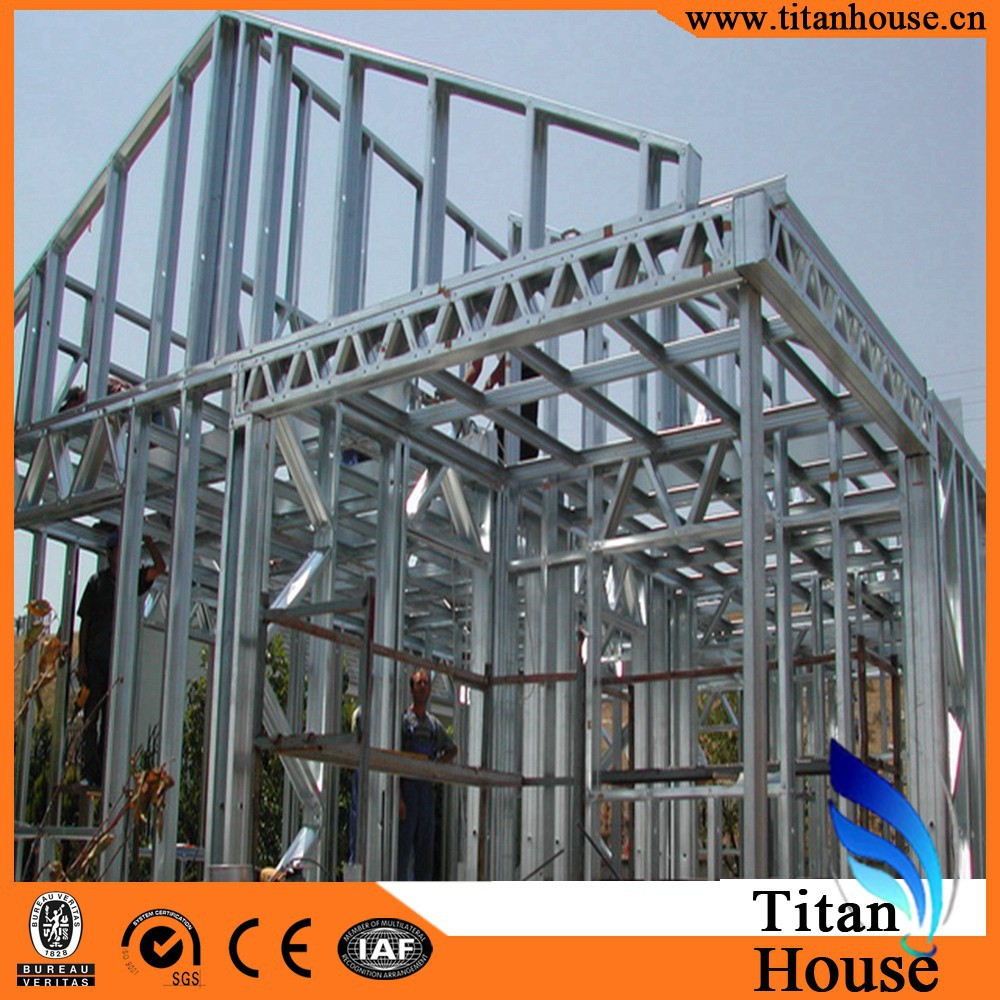 China Supplier Luxury Design Light Gauge Steel Framing Houses Cheap Prefab Homes For Sale