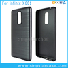 Soft ultra thin brush tpu rubber phone case for infinix note 3 x601
