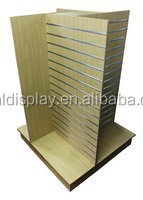 SL05 Slatwall display fixtures, 4-way visual, slat wall fixtures small H merchandiser, merchandising wall displays