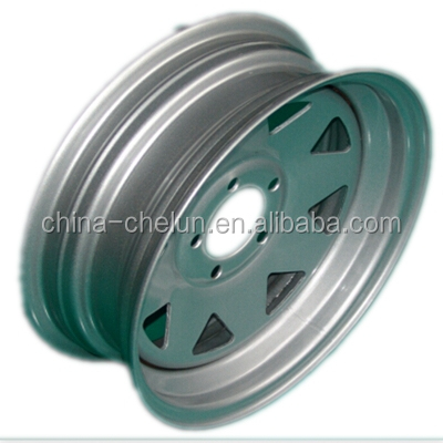 15'' 16'' Steel Material Color Customized Trailer Rim