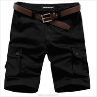 Wholesale Fashion High Quality Black Zip Pants Men Cargo Shorts