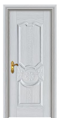 wood covered embossed steel panel door