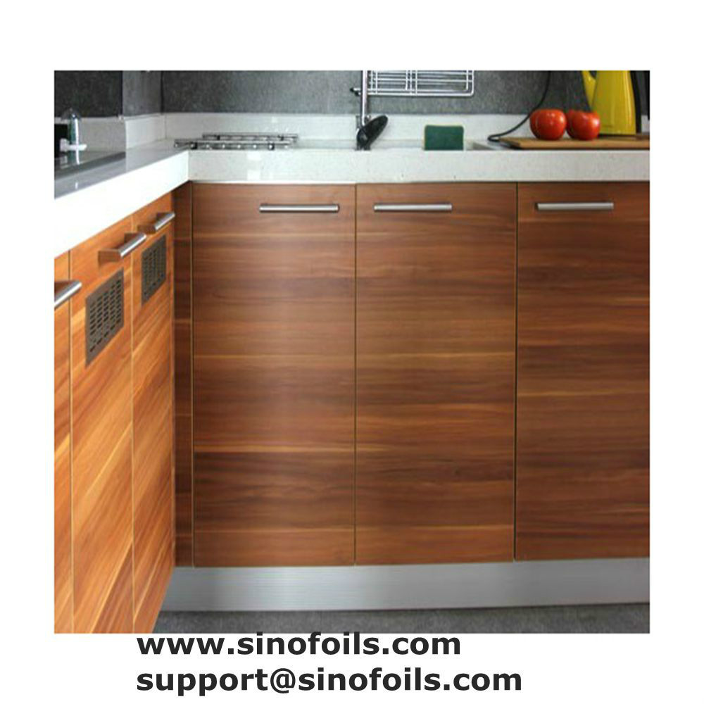 Wood grain wrapping paper for kitchen cabinet,wardrobe panel,door plate (30g/sqm)