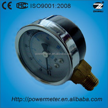 50mm air pressure gauge with black steel case measuring devices made in China