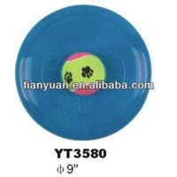 rubber pet frisbee launcher dog flying frisbee for promotion-YT3580