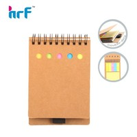 Mini sprial note book with colorful sticky notes;pocket note book with memo paper sticker