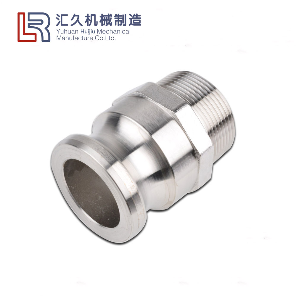 "Huijiu 4"" Inch NPT Male Threaded F Aluminum Cam and Groove Fitting Camlock Adapter"