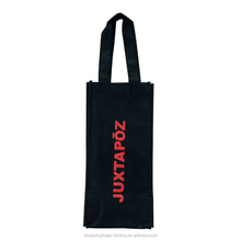 Professional image non woven single wine tote bag for promotional