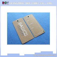 High Quality Factory Price hang tag design for garment