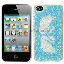 Swan Bling Glitter Stone Hard Mobile Phone Case Cover For iphone 4