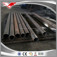 weld iron pipe / welded steel tube / black metal pipe