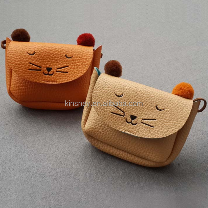 KS20464A Hot selling new design PU leather lovely cat fashion coin bags