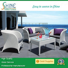 2015 synthetic rattan furniture easy/ leisure garden outback furniture/wicker sofa set