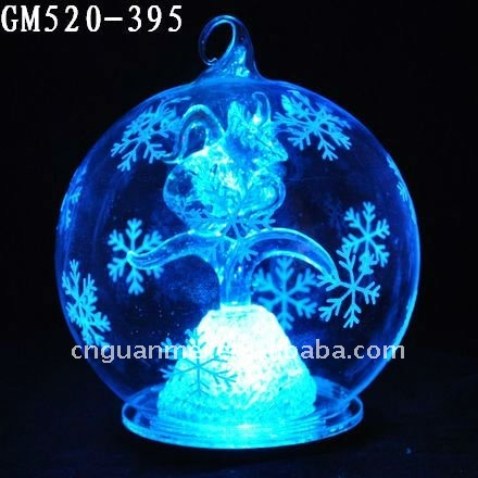 LED hanging wholesale glass balls with Aquarius