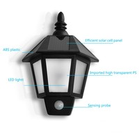 Outdoor Solar Sensor Wall Light For