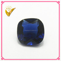 synthetic corundum square shaped synthetic blue sapphire