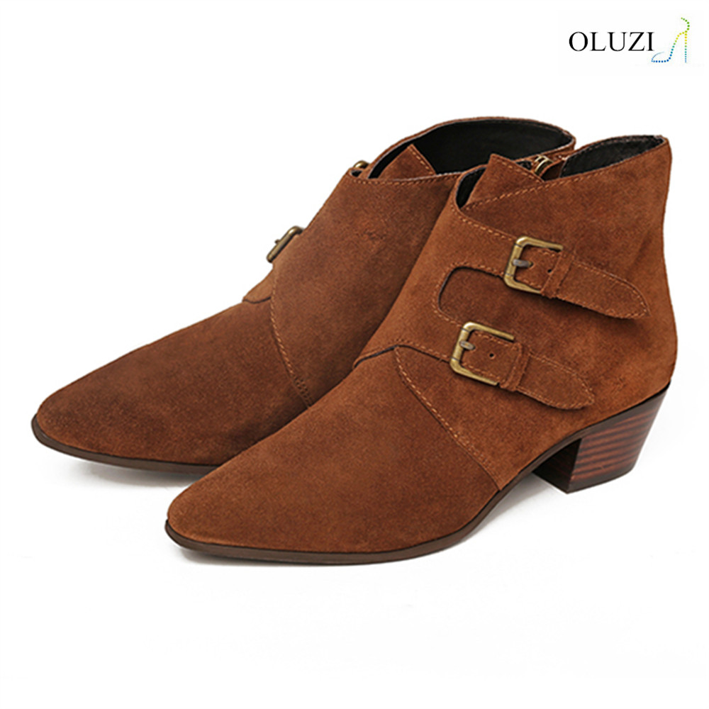 OLZB32 factory direct supply latest design lady hiking shoes low heel ankle boots