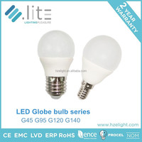 LED p45 LED globe 3w 4w 5w 6w 7w C37 LED candle led light bulb parts