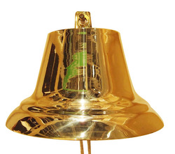 Dia 25cm, large solid brass ship bell with shiny polishing