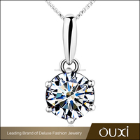 OUXI Fashion Design Female Sterling Silver Pendant Jewelry
