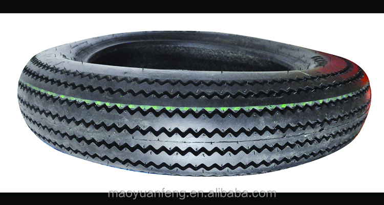china maufacturer top quality sawtooth pattern motorcycle tire 4.50-18 with inner tube or tubeless