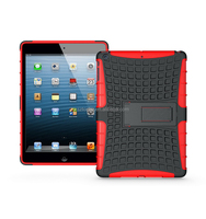 Wholesale TPU Plastice Shatterproof Kickstand Case Hybrid Combo Kid's Tablet Case For iPad Air/For ipad 5
