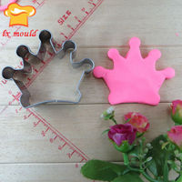crown shape cookie cutter custom handmade cookie cutters Food grade steel raw material