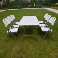 Hot selling small folding camping tables white long table