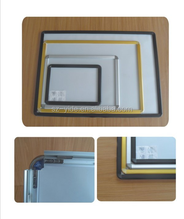 YIDE round/right corner aluminum 25mm snap photo frame