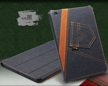 High quality Jeans standing case for ipad mini