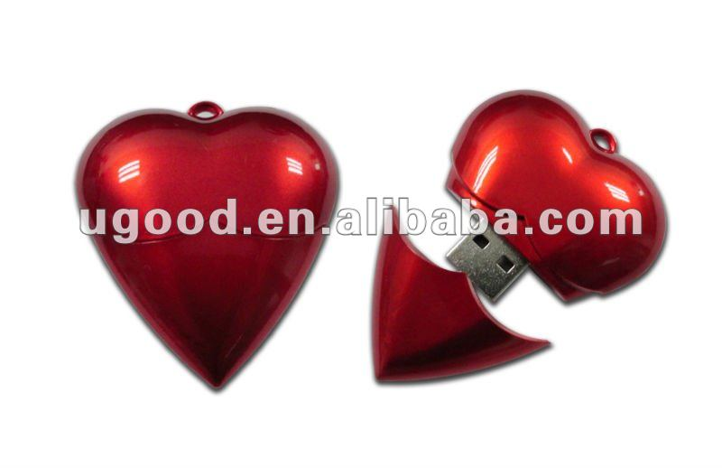 Heart shape ABS meterial usb flash