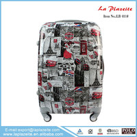 Latest design trolley luggage set, travel trolley luggage bag, luggage scooter
