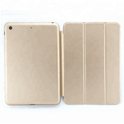 High Quality Tab Accessories PU+TPU Flip Stand Leather Case for iPad Mini 4