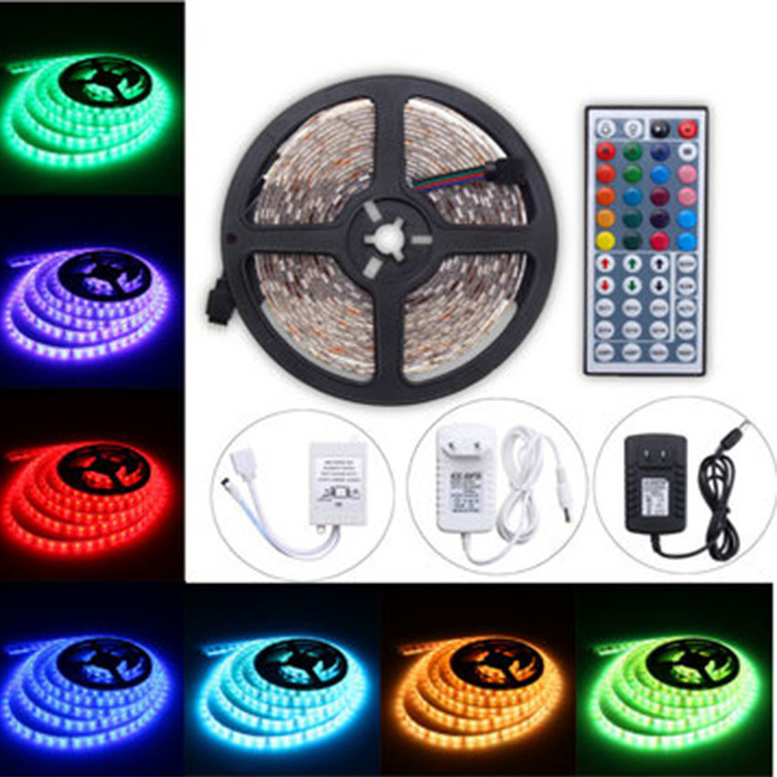 5M 60W <strong>RGB</strong> SMD5050 Waterproof 300 LED Strip Light + 44 Key Remote 12V 2A Power Adapter Full Kit
