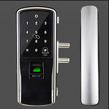 fingerprint smart lock glass door for hotel office