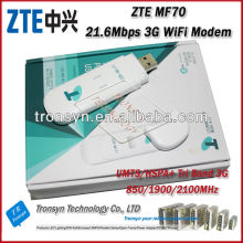 Unlocked Original HSPA+ 21.6Mbps ZTE MF70 ZTE 3G WiFi Modem Router Built-in 850/1900/2100MHz Tri Band
