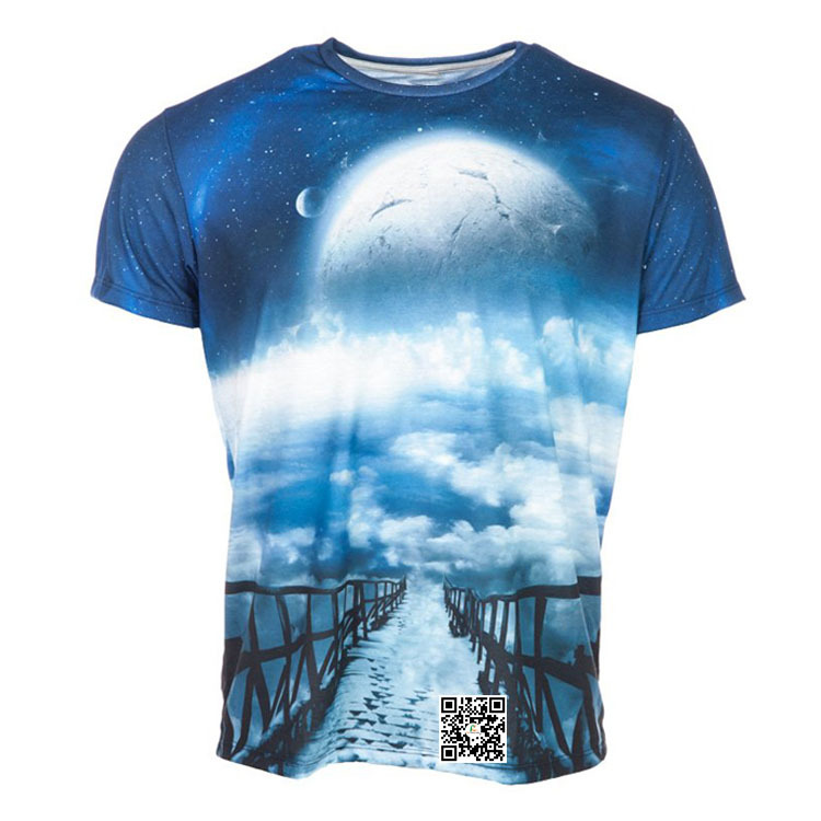 2017 Breathable All Over Sublimation Printing T-Shirt