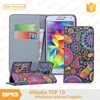 BRG 10 Styles Colorful Flower Butterfly Wallet Stand Case For Samsung Galaxy S5 Phone Case With Card Holder